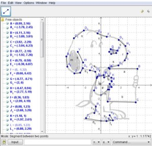 Image from Plotting Points - GeoGebra - Snoopy