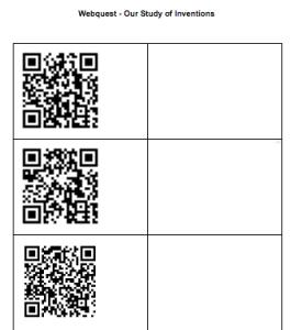 Create a QR code webquest