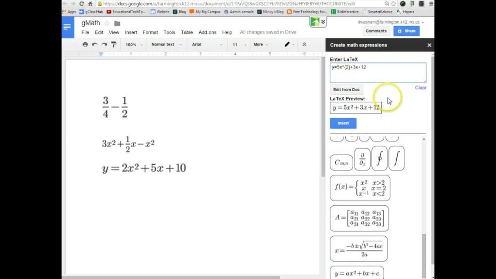 g(Math) sceen