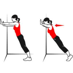 Wall push-ups