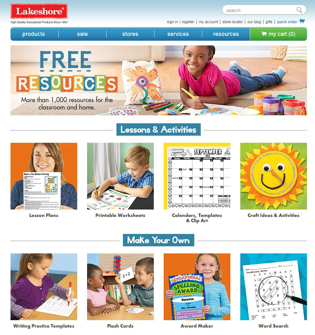 Printable Online Resources  lakeshorelearningcom